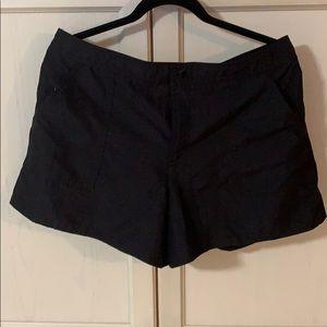 Womans black swim shorts in size 16